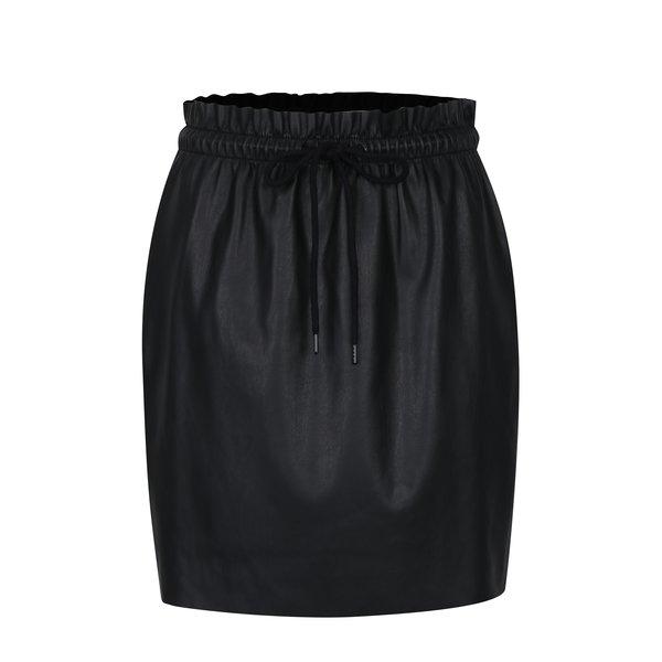 Fustă neagră cu talie elastică VERO MODA Riley