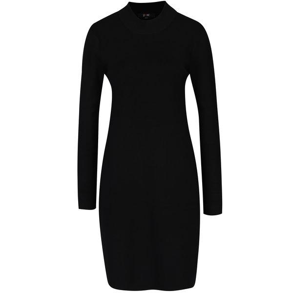 Rochie pulover neagră cu mâneci lungă Yest