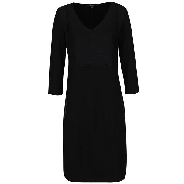 Rochie neagră cu buzunare Yest