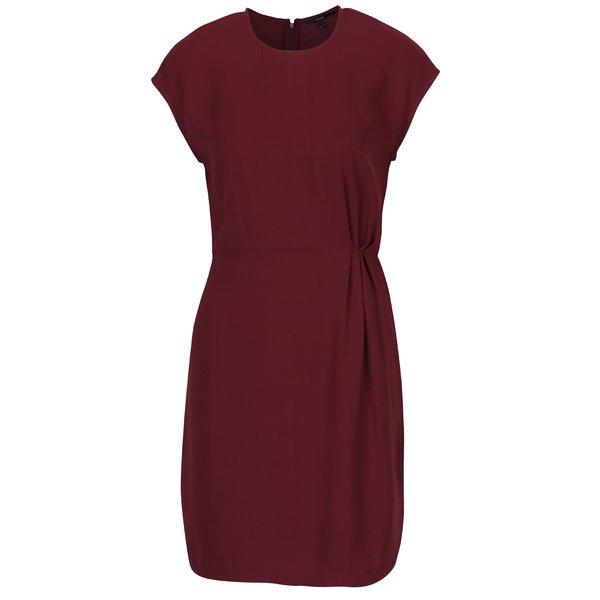 Rochie roșu bordo cu pliuri asimetrice VERO MODA Nice