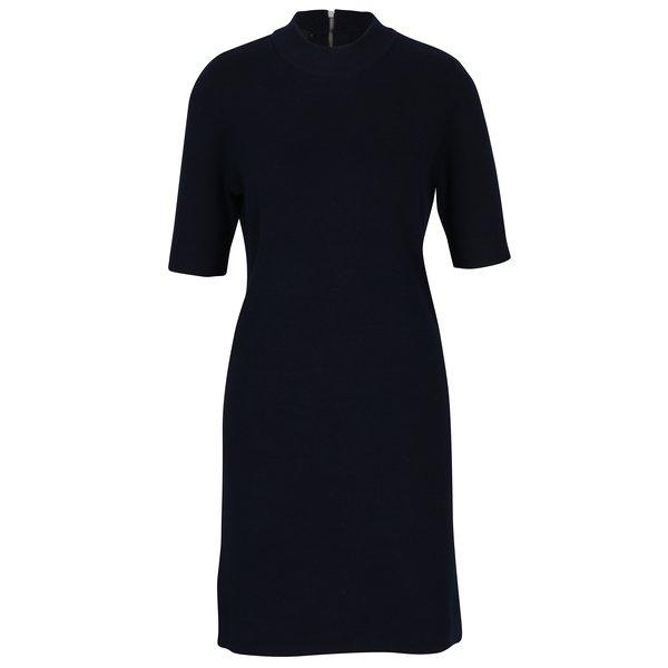 Rochie tricotată bleumarin cu fermoar la spate VERO MODA Barstow