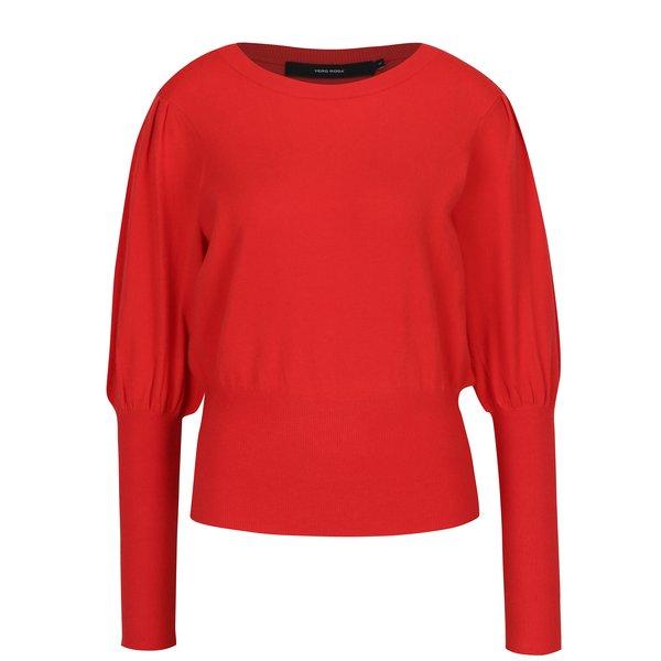 Pulover roșu cu mâneci liliac VERO MODA Mace