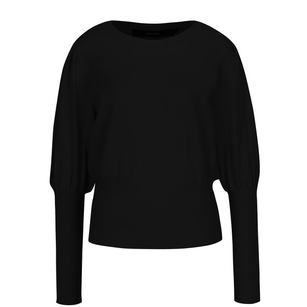 Pulover negru cu mâneci lilac VERO MODA Mace
