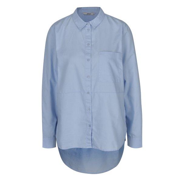 Cămașă asimetrică bleu pentru femei - ONLY Laurette