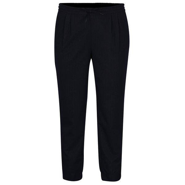 Pantaloni bleumarin cu dungi și talie medie pentru femei - ONLY Sophie