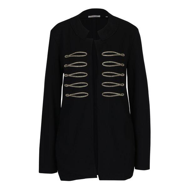 Pardesiu scurt negru cu detalii aurii Rich & Royal
