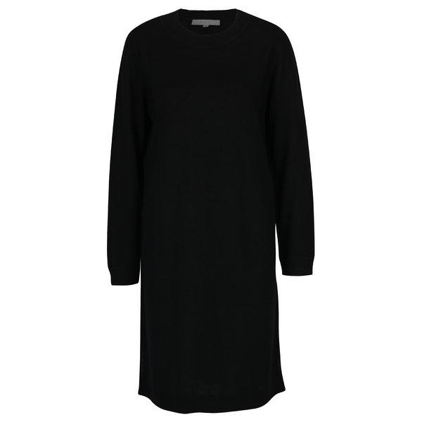 Rochie - pulover neagra cu maneci lungi - Selected Femme Eileen