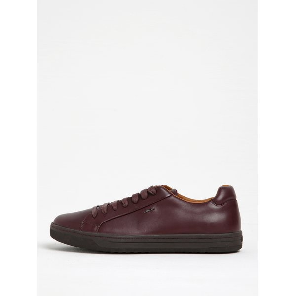 Pantofi sport bordo din piele Geox Rikin F