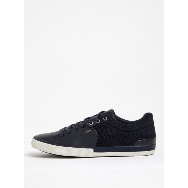 Pantofi negri cu model reptilă Geox Smart F