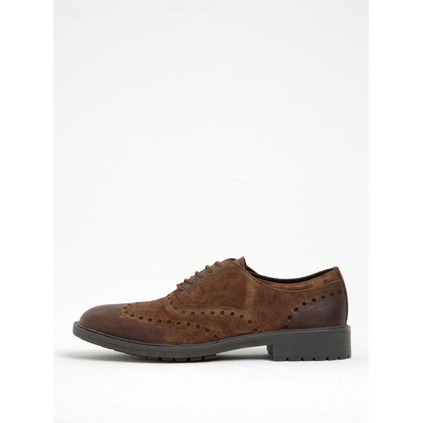 Pantofi maro din piele intoarsa Geox Kapsian