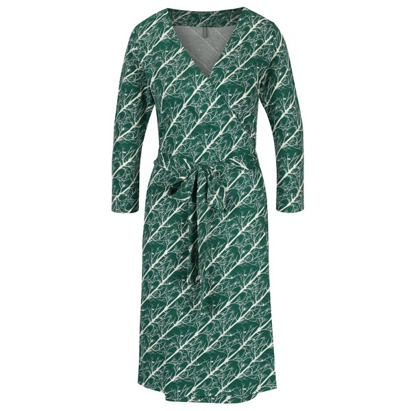 Rochie verde cu cordon în talie Tranquillo Katia