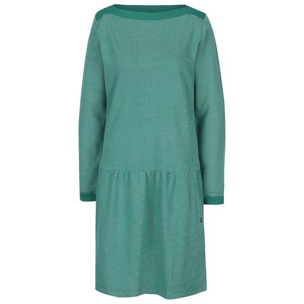 Rochie verde cu pliuri în talie Tranquillo Fran