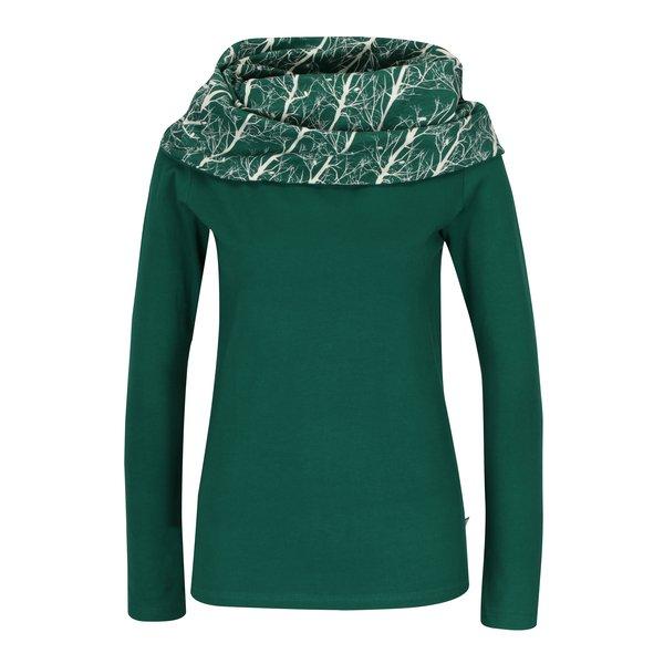 Bluză verde cu guler șal Tranquillo Santiago