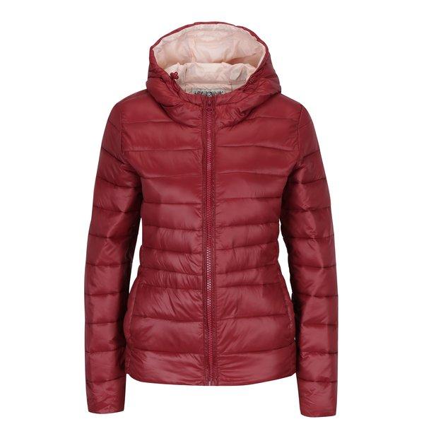 Jachetă matlasată cărămizie cu glugă - Hailys Dora