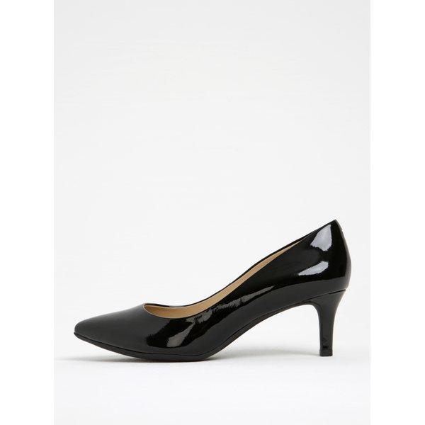 Pantofi negri din piele lăcuită Geox Elina C