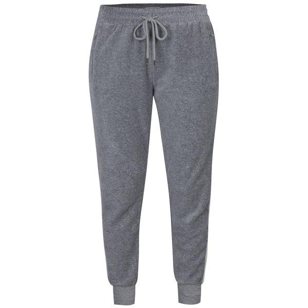 Pantaloni sport gri melanj cu șnur ajustabil - Hailys Vital