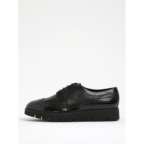 Pantofi negri Oxford din piele cu platformă Geox Blenda C