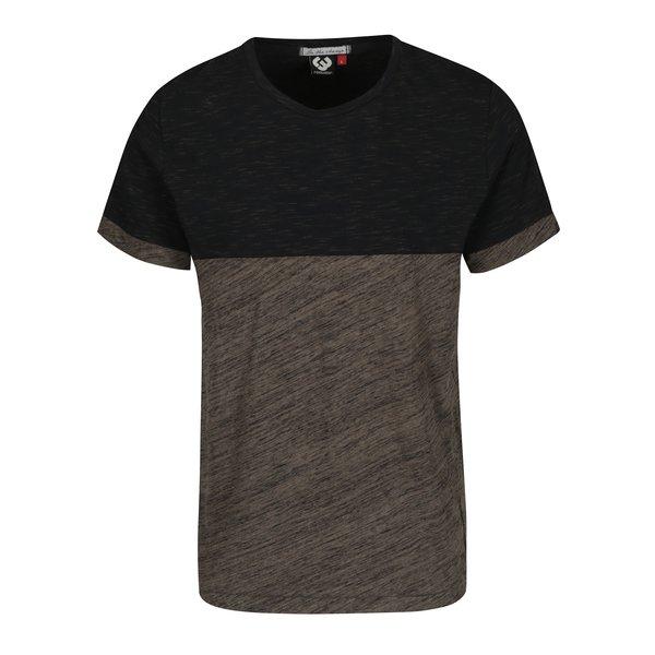 Tricou gri închis & maro melanj Ragwear Geo pentru bărbați