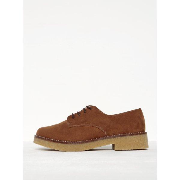 Pantofi maro cu șiret și talpă boat OJJU