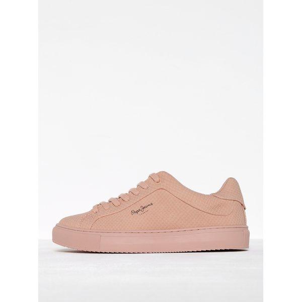 Pantofi sport roz prăfuit cu aspect de piele de reptilă Pepe Jeans Adams Samy