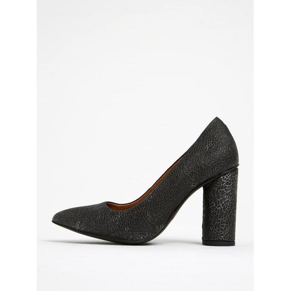 Pantofi gri din piele întoarsă cu toc Selected Femme Alexandra