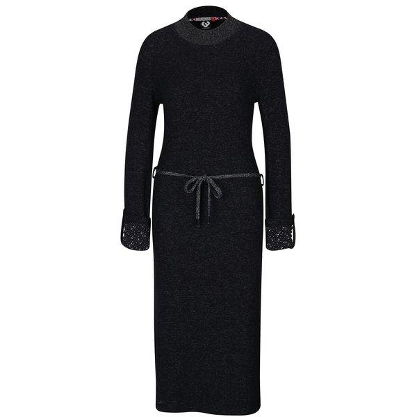 Rochie neagră cu mâneci lungi Ragwear Provence