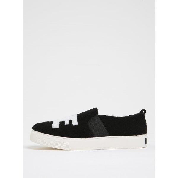 Pantofi slip on negri cu blană artificială ALDO Loveawen