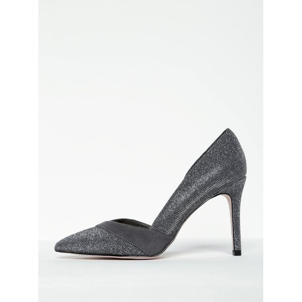 Pantofi stiletto gri strălucitor- Miss KG Cai