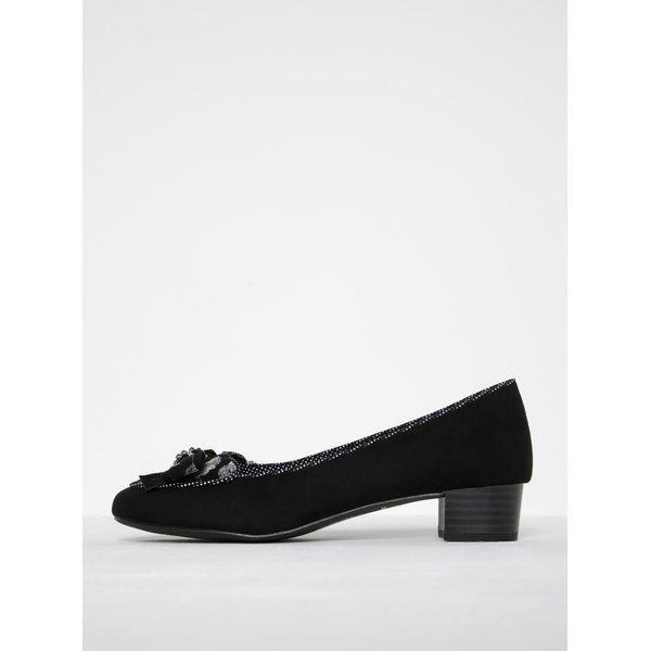 Pantofi negri cu toc scurt și fundă - Ruby Shoo Victoria