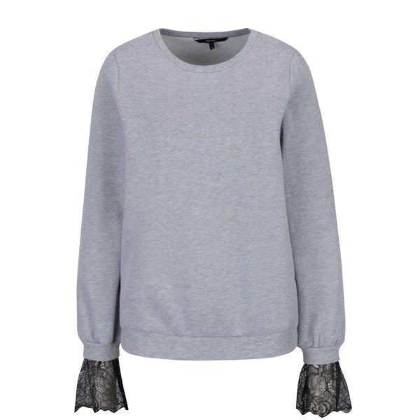 Bluză gri deschis cu detalii din dantelă - VERO MODA Bessie