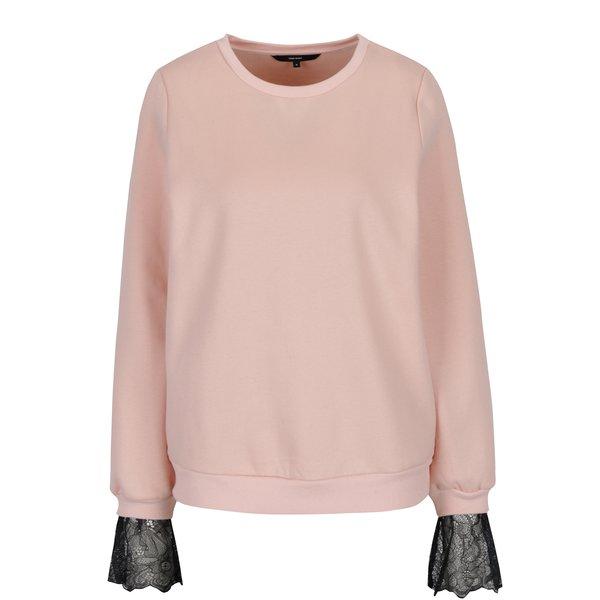 Bluză roz cu aplicație de dantelă - VERO MODA Bessie