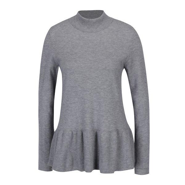 Bluza peplum gri tricotata fin – VERO MODA Sky