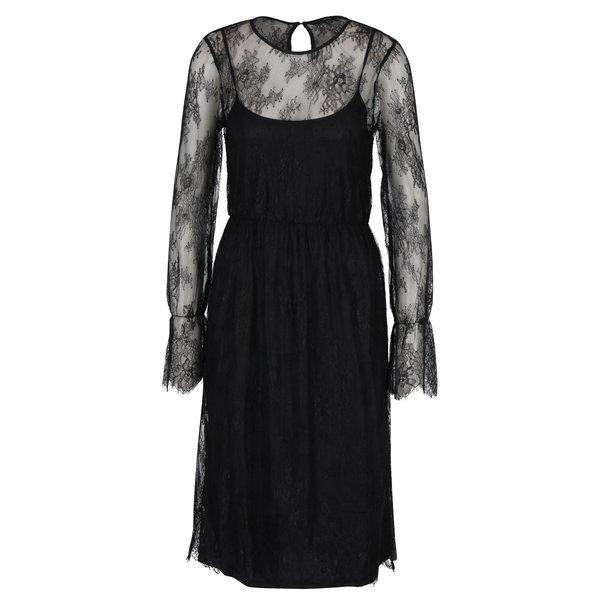 Rochie neagră din dantelă cu aspect 2 în 1 - VERO MODA Swan