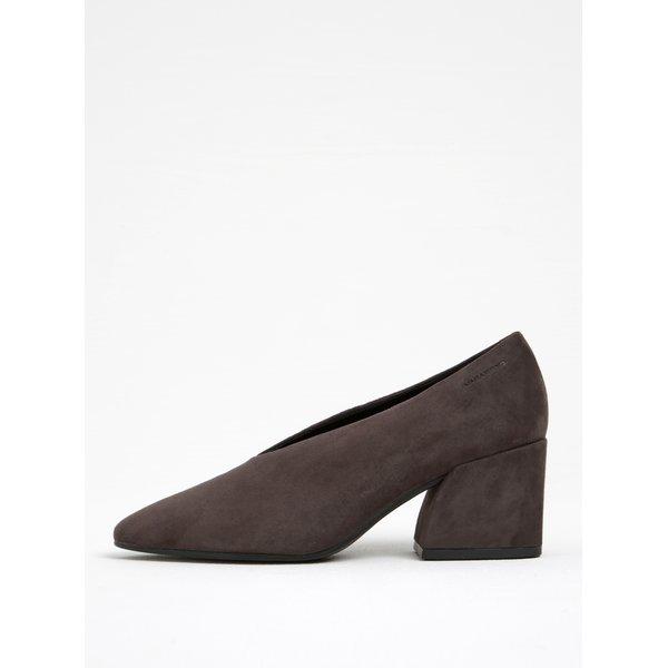 Pantofi gri din piele întoarsă Vagabond Olivia