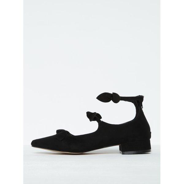 Pantofi negri cu barete și fundițe Dorothy Perkins