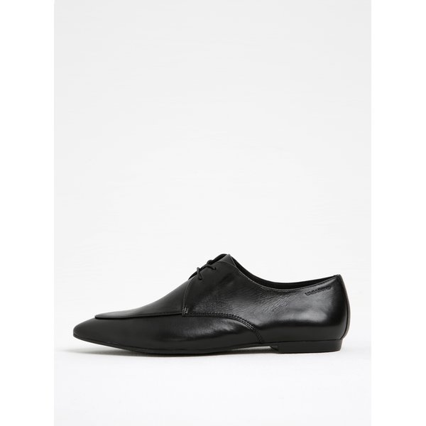 Pantofi negri din piele cu sireturi Vagabond Katlin