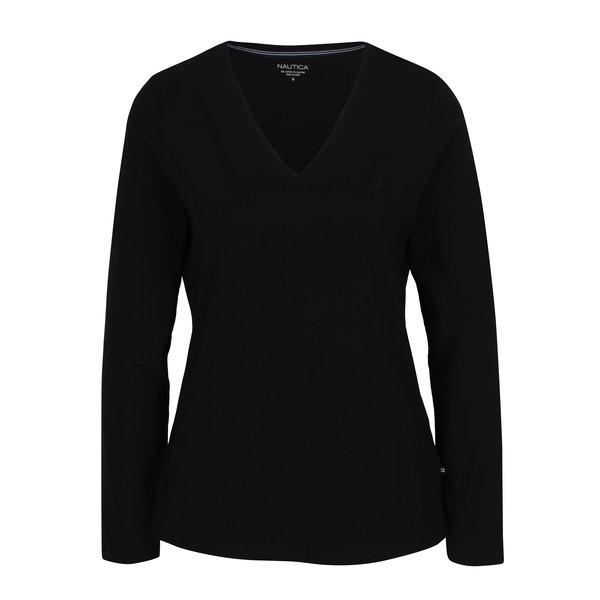 Bluză neagră cu decolteu encoeur Nautica