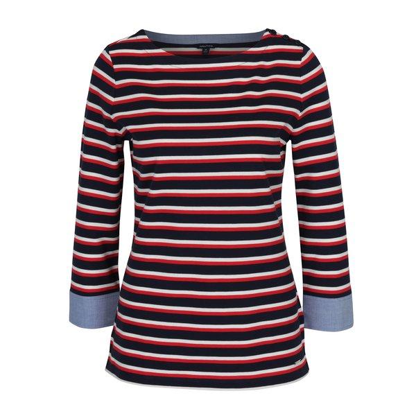 Bluză roșie cu mâneci 3/4 Nautica