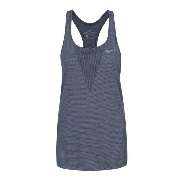Top albastru cu perforații pentru femei Nike