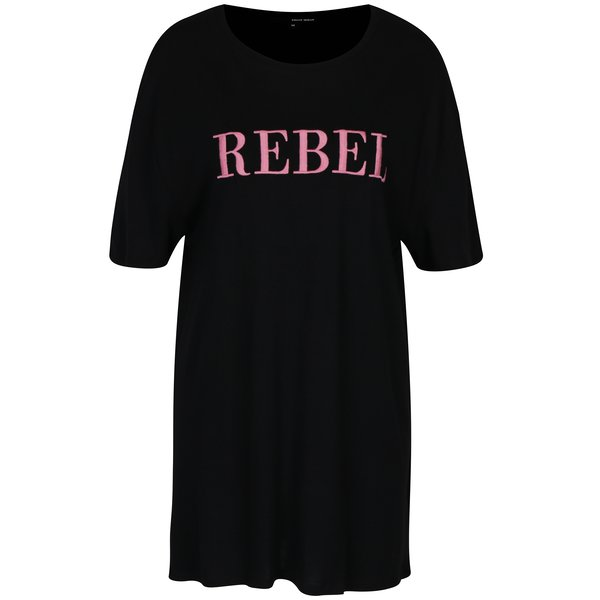 Tricou oversized negru&roz TALLY WEiJL