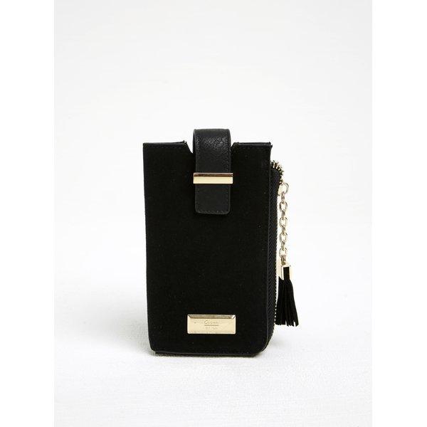 Husă neagră pentru smartphone cu buzunar pentru carduri Gionni Viollette