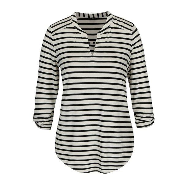 Bluză cu dungi crem și negru și mâneci 3/4 M&Co
