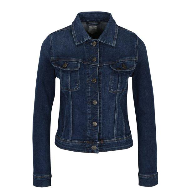 Jachetă albastră crop din denim pentru femei Lee Slim Rider