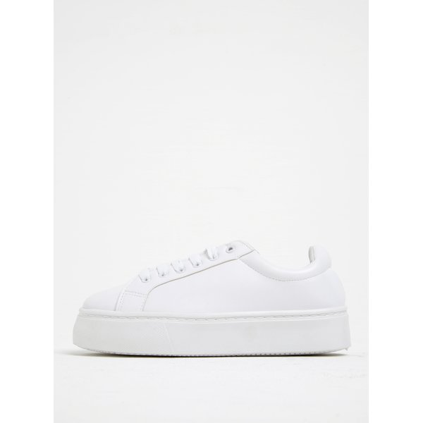 Pantofi sport albi cu platformă - Pieces Monet
