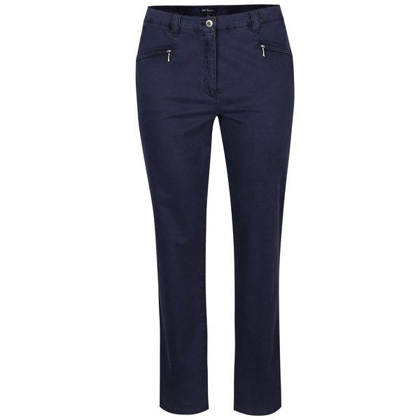 Pantaloni drepți bleumarin cu talie elastică Ulla Popken