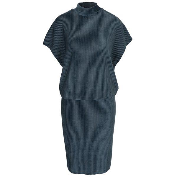 Rochie albastră din catifea cu mâneci raglan Selected Femme Velva
