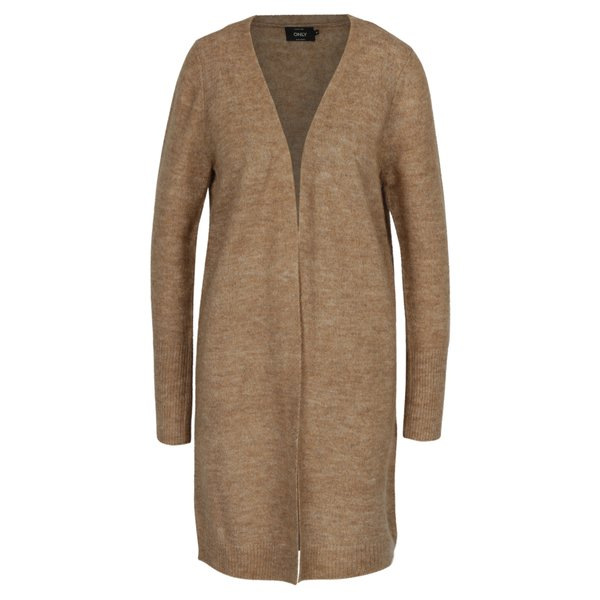 Cardigan lung maro deschis ONLY Meredith