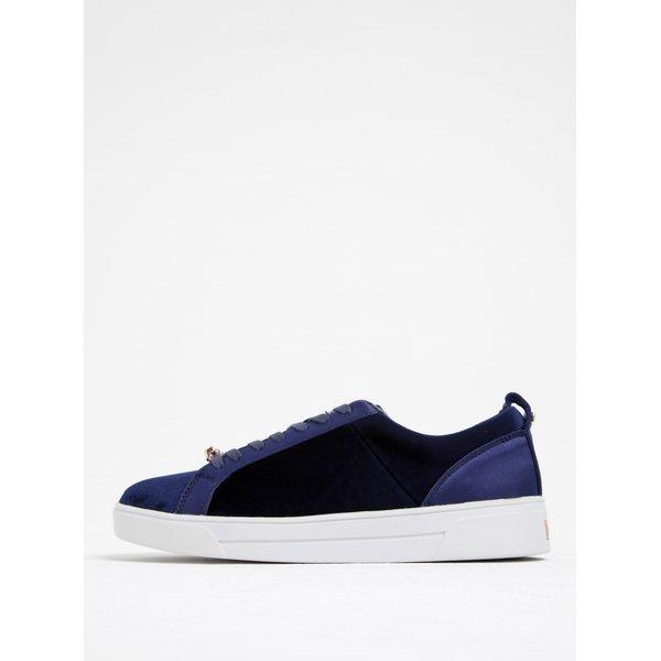 Pantofi sport albaștri din catifea - Ted Baker Kulei