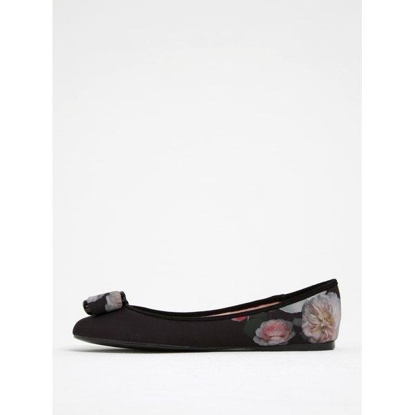 Imagine indisponibila pentru Balerini negri cu imprimeu floral și fundă decorativă - Ted Baker Immep