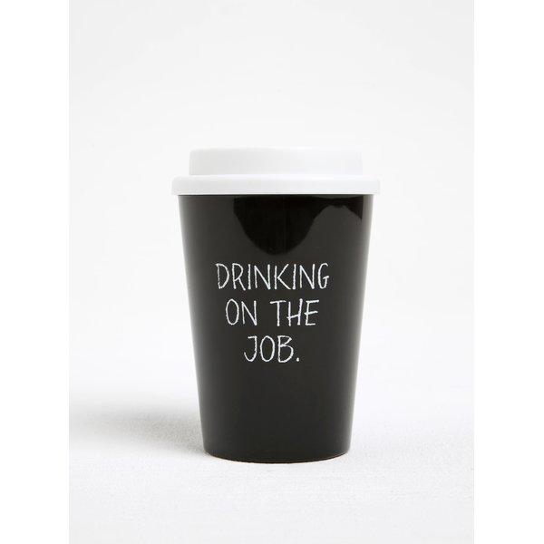 Pahar to-go negru cu print - CGB
